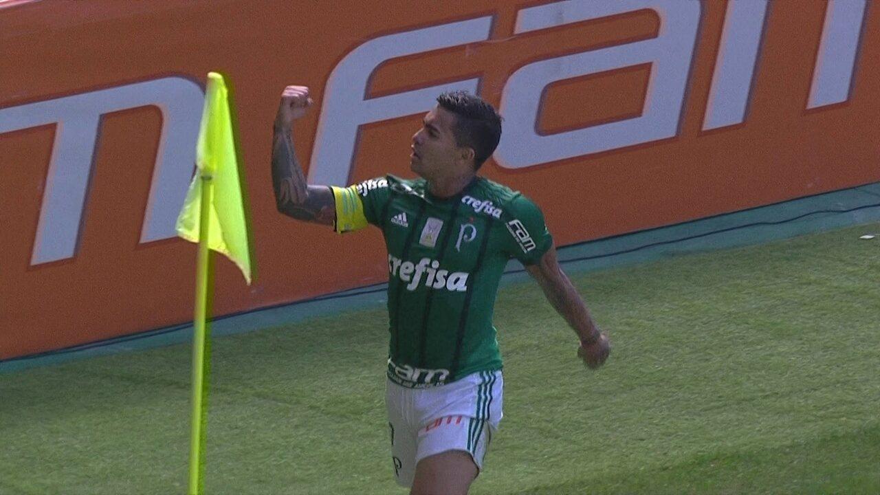 Gol do Palmeiras! Guerra rouba a bola e deixa Dudu na boa para marcar aos 45' do 1º Tempo