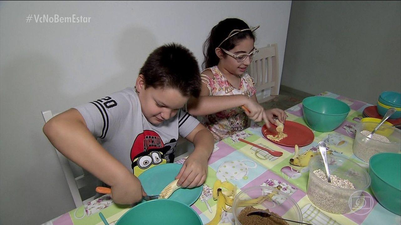 Biscoito de aveia é opção de lanche saudável para as férias das crianças