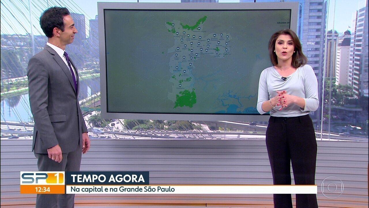 Veja a previsão do tempo para esta segunda-feira (17) em São Paulo