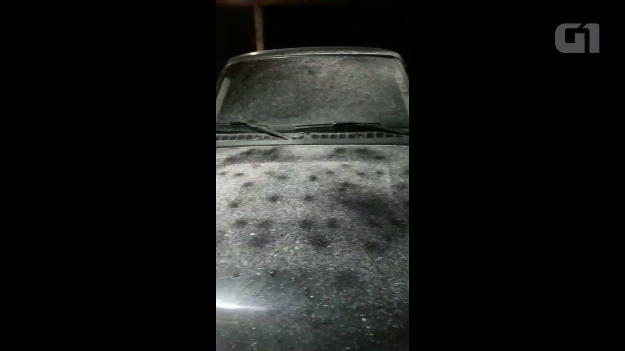 Moradores registram frio intenso em Palmas, no sul do Paraná