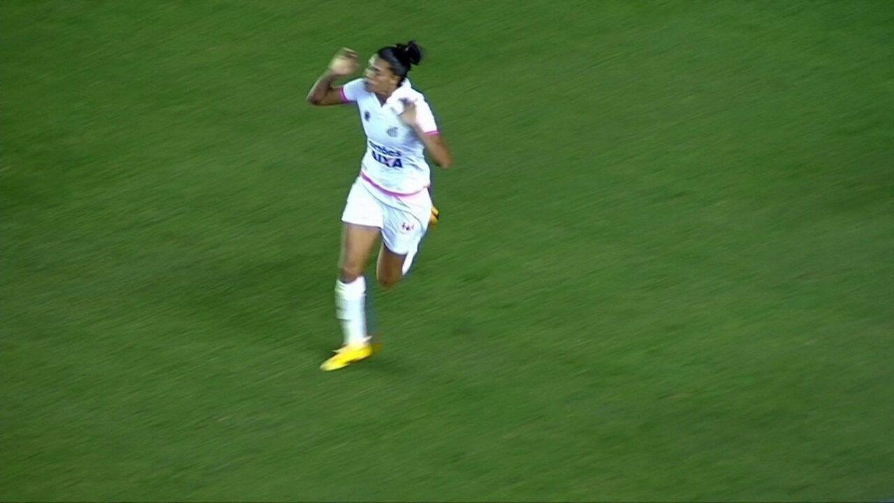 Confira gols de Sole Jaimes com a camisa do Santos