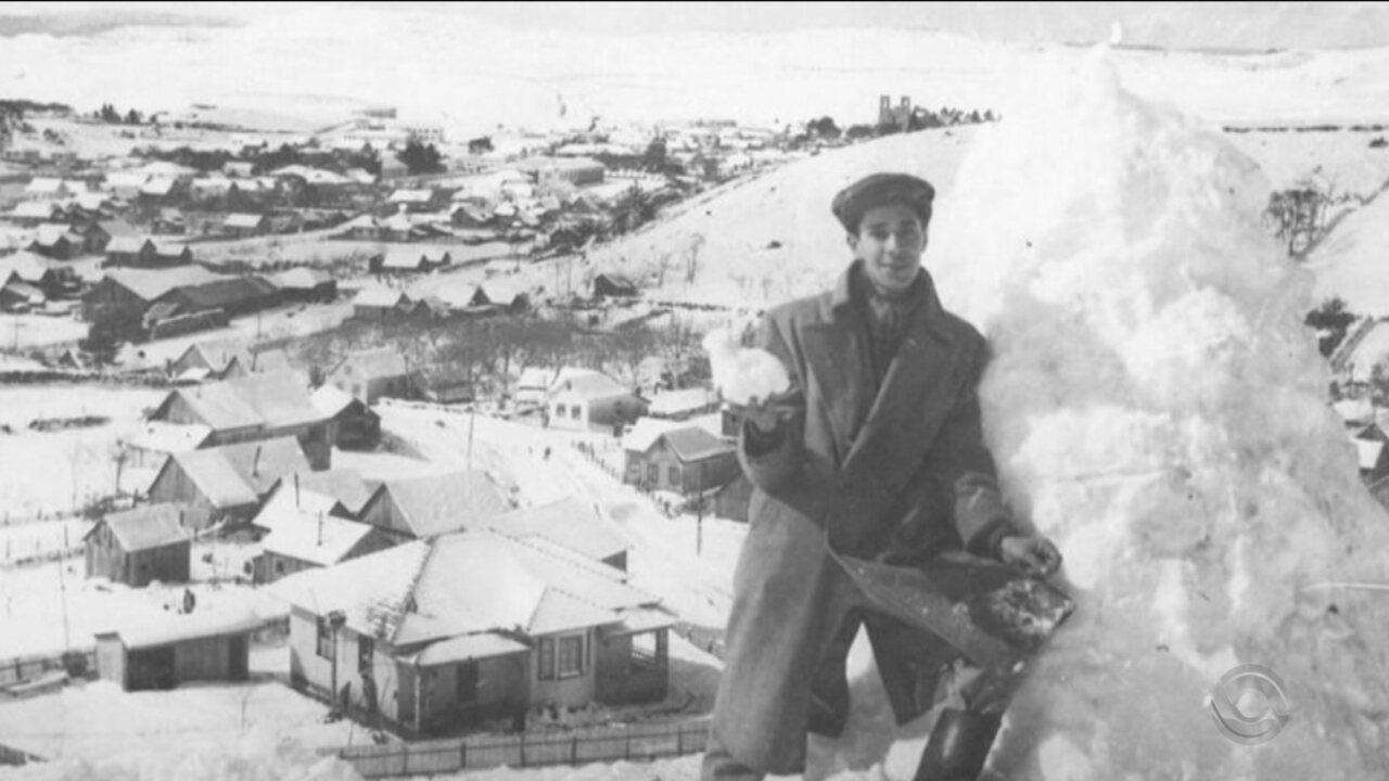 Maior nevasca da história de SC completa 60 anos