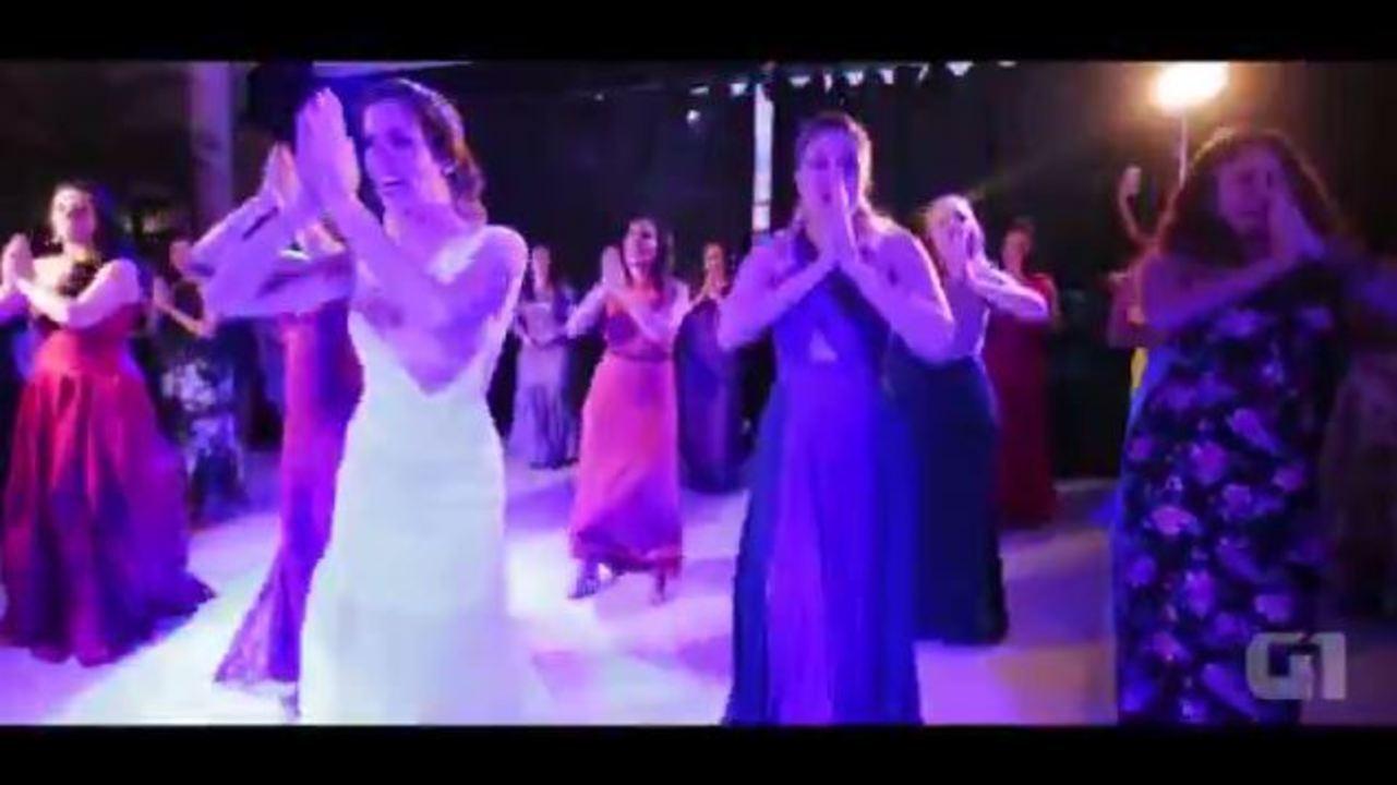 Noivos Marina e Rafael dançaram 'Despacito', funk e Pabllo Vittar em casamento no DF