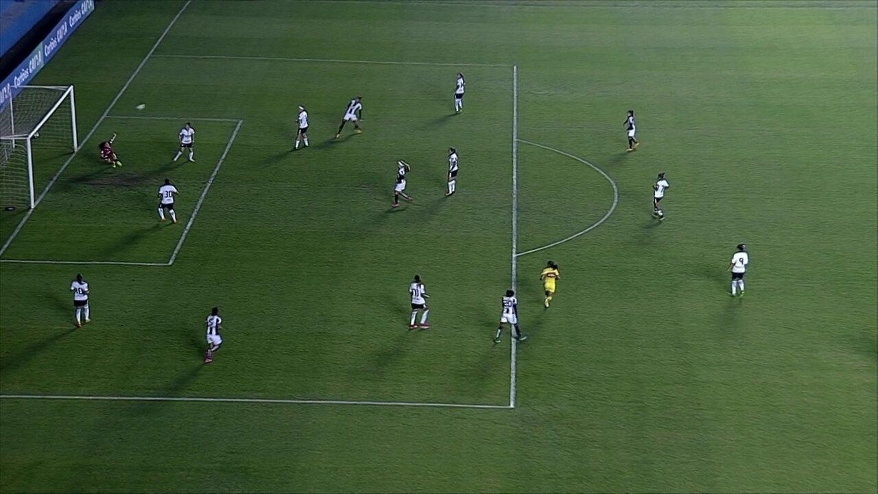 Gol do Santos! Sole James sobe e cabeceia bonito para marcar o gol da vitória sobre o Corinthians