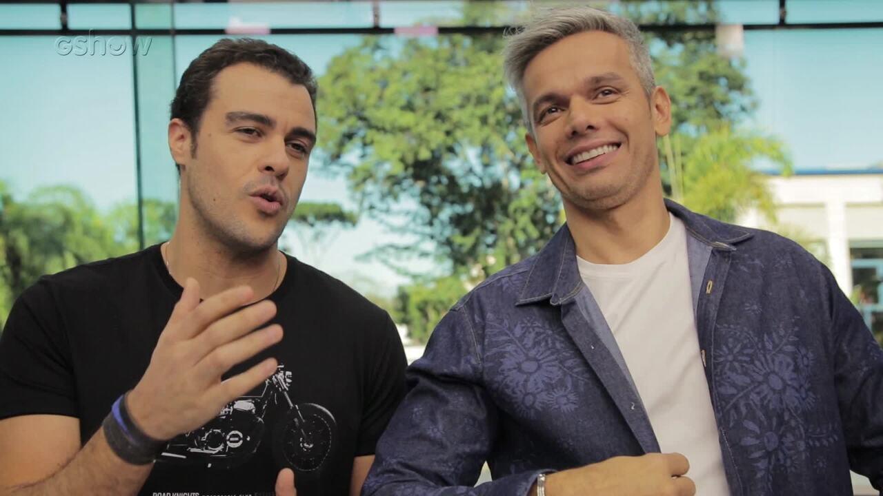 Joaquim Lopes e Otaviano Costa se divertem em teste de amizade