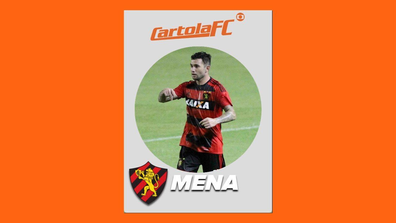 Mena, do Sport, é o craque do Cartola FC na 15ª rodada do Brasileirão 2017