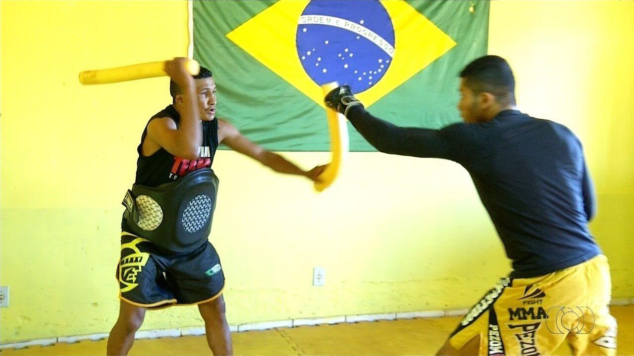 Lutador se prepara para torneio de MMA que será realizado em Colinas