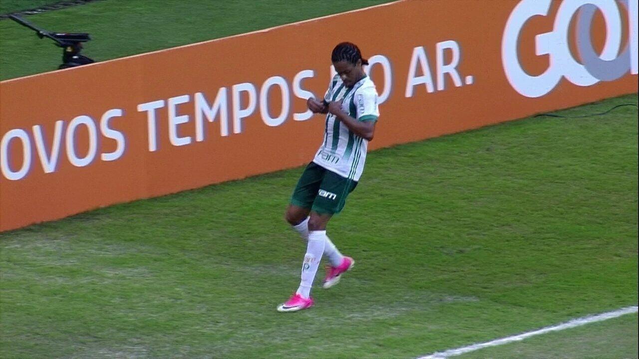 Gol do Palmeiras! Bruno Henrique lança Keno na área e o camisa 27 não desperdiça, 47 do 1º