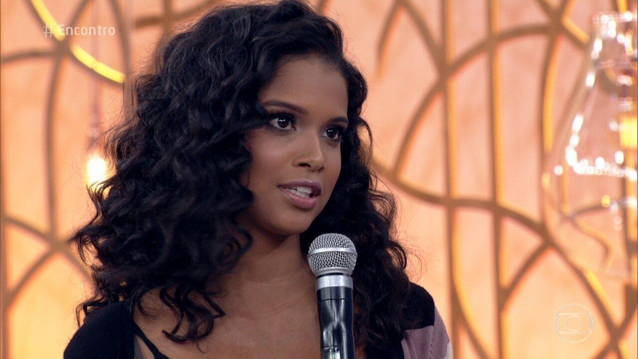 Aline Dias conta que já fez dieta para engordar