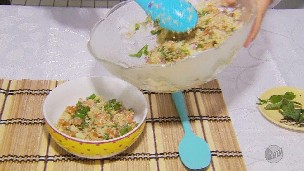 Alimentos funcionais: nutricionista ensina a fazer salada de quinoa