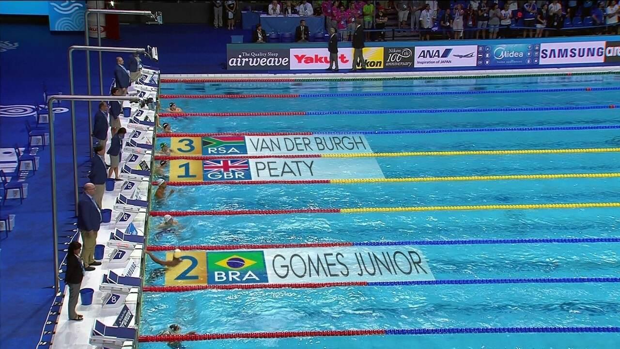 João Gomes conquista a prata e Felipe Lima fica com o 4º lugar nos 50m peito masculino