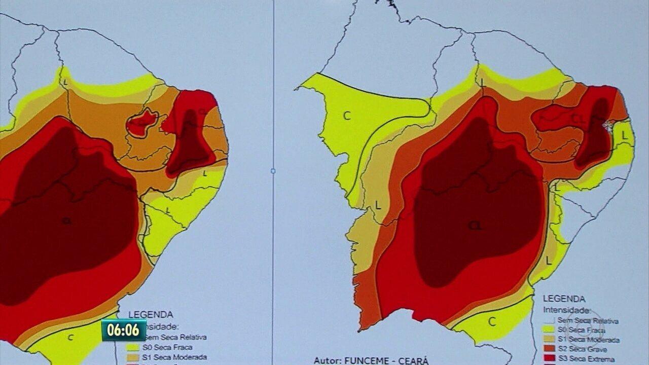 Mapa da seca mostra melhoria em cidades do Agreste e Mata Sul, após chuvas no interior