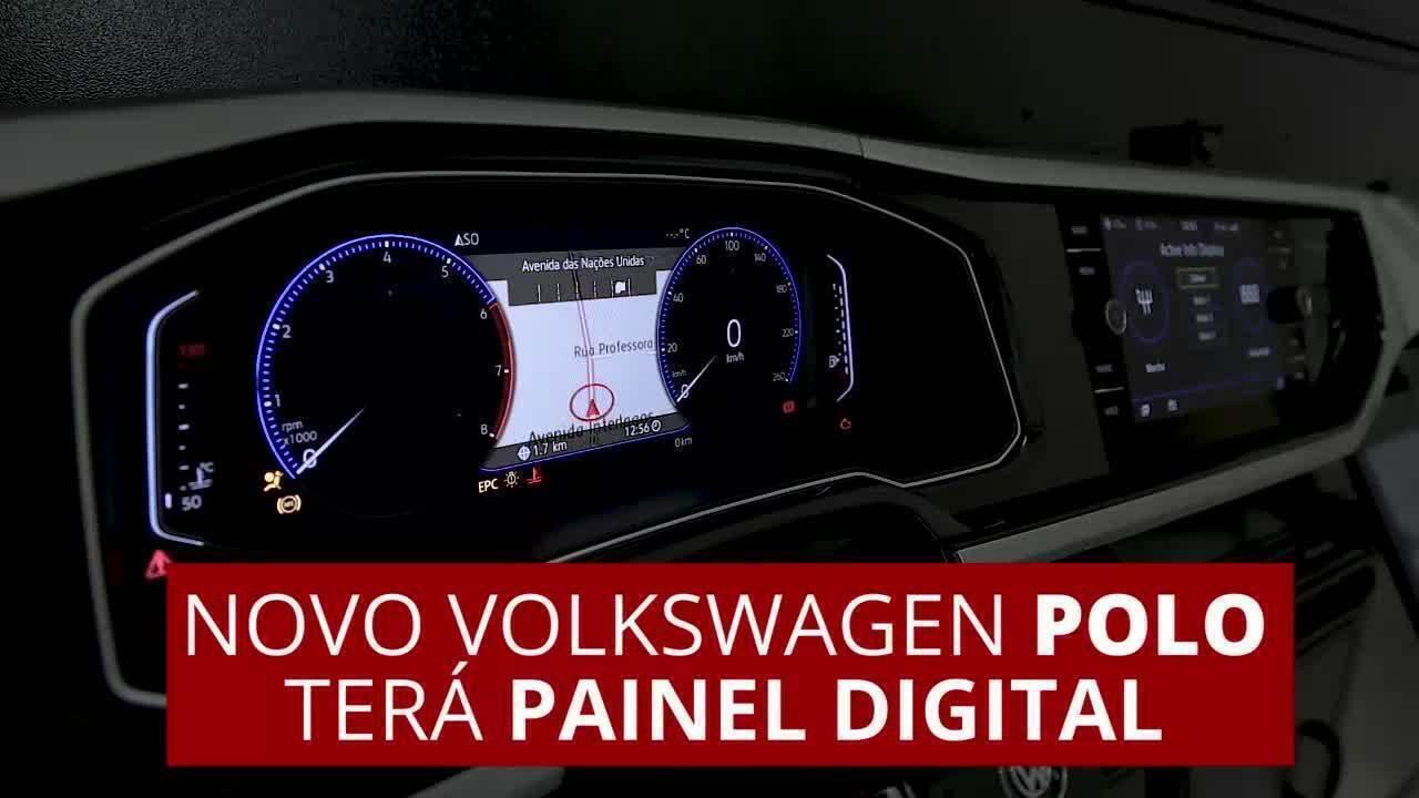 Veja como é o painel digital do novo Volkswagen Polo