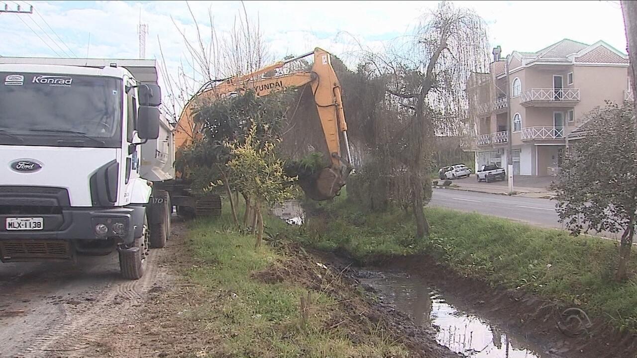 Obra de desassoreamento do rio Carahá começa em Lages