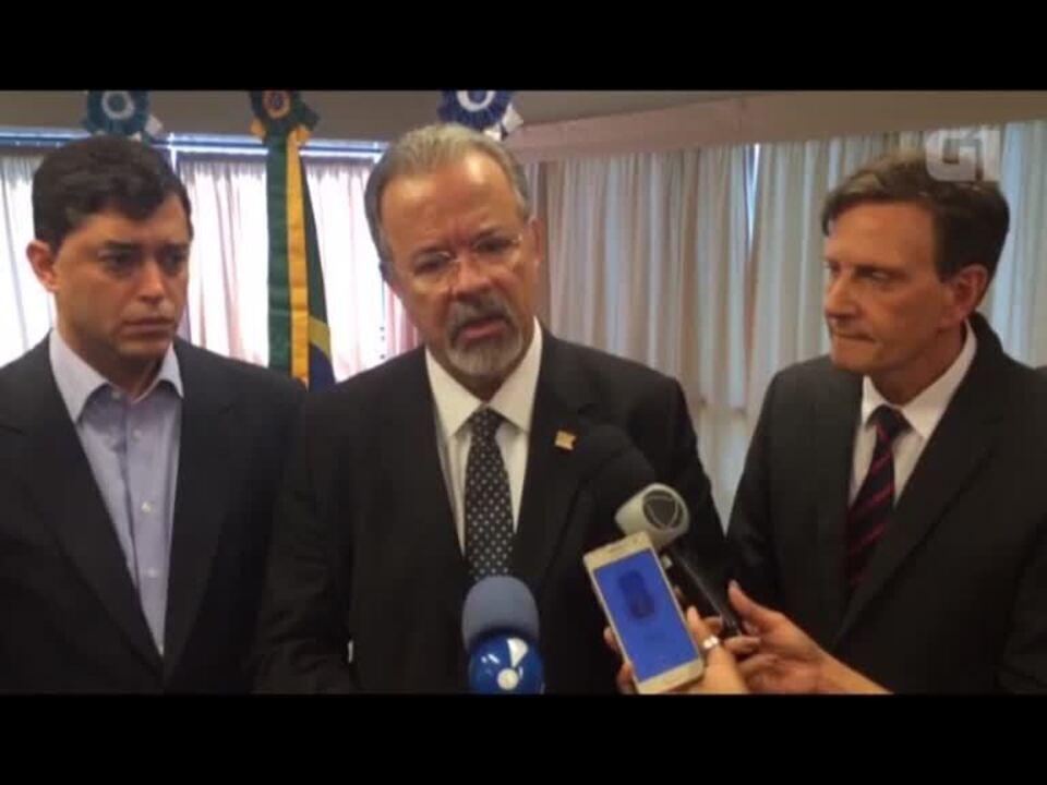 Jungmann e Crivella anunciam apoio da Guarda Municipal à operação de segurança