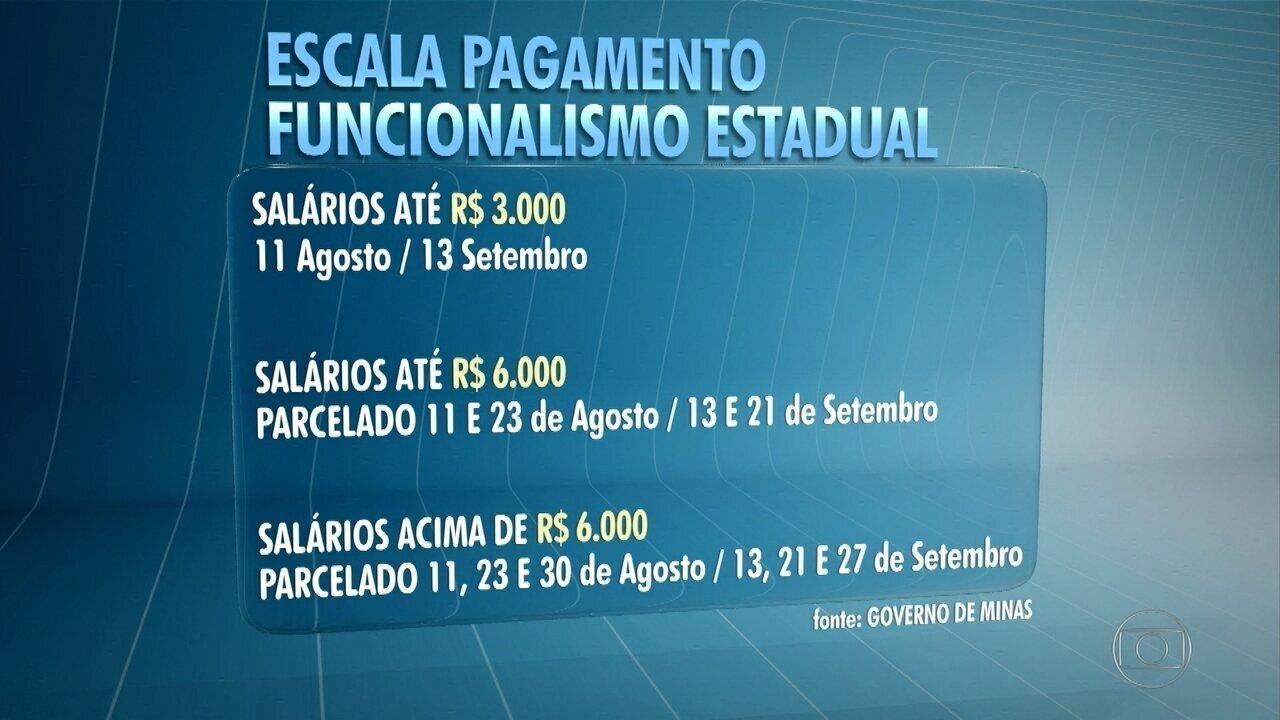 Governo de Minas divulga nova escala de pagamento do funcionalismo público estadual
