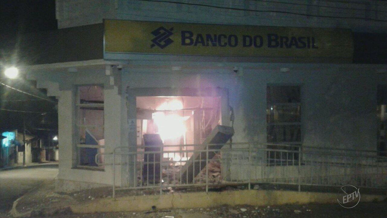 Três agências bancárias são atacadas durante a madrugada em cidades do Sul de Minas