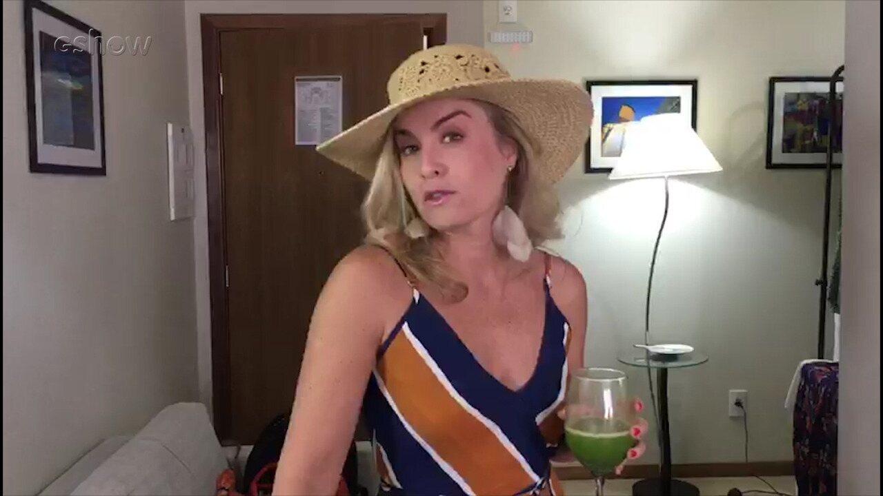 Angélica abre o camarim e mostra seu figurino para a nova temporada do 'Estrelas'