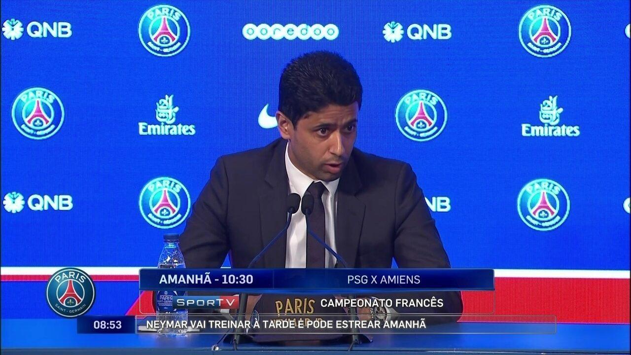 Presidente do PSG garante que Neymar não foi para o time francês por dinheiro