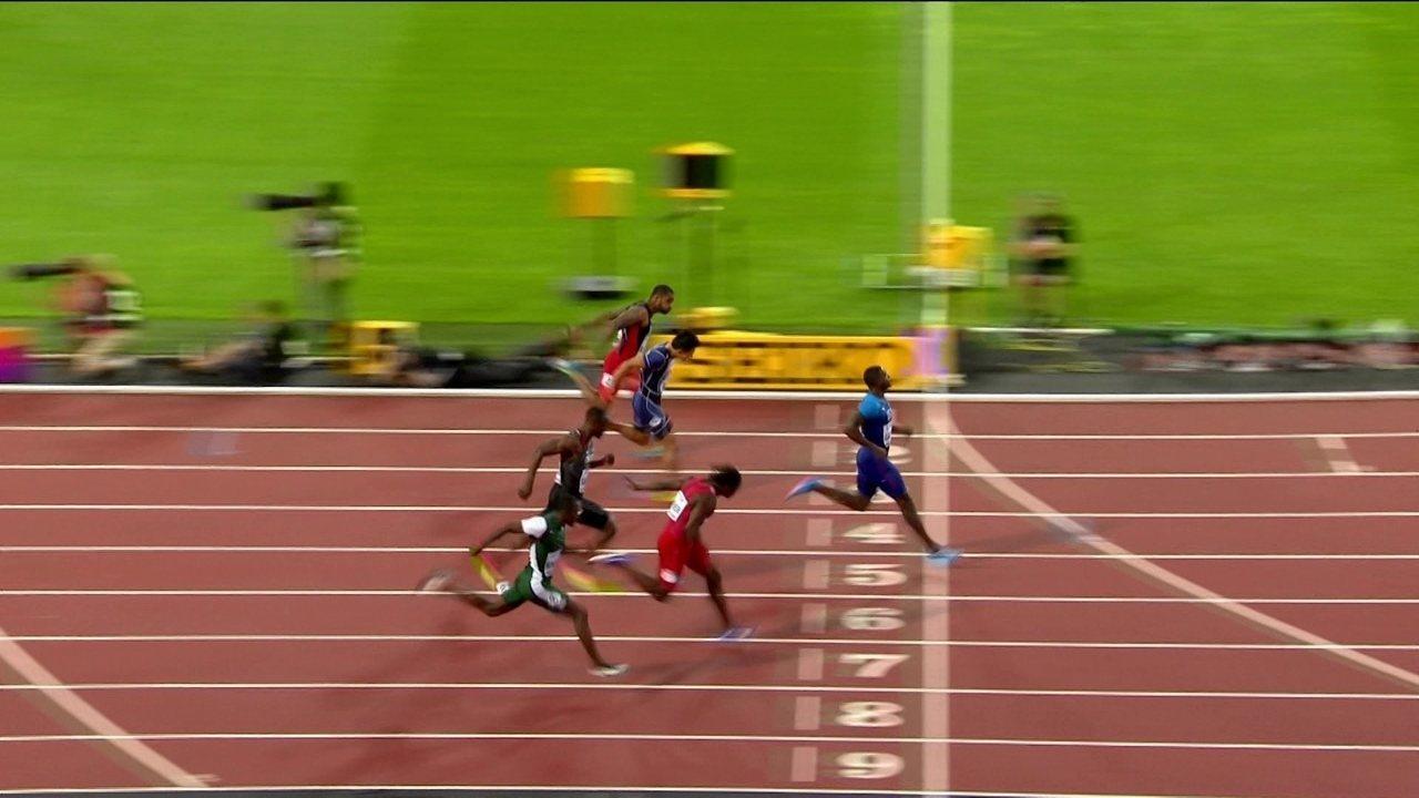 Justin Gatlin vence a quinta bateria dos 100m rasos do Mundial de atletismo