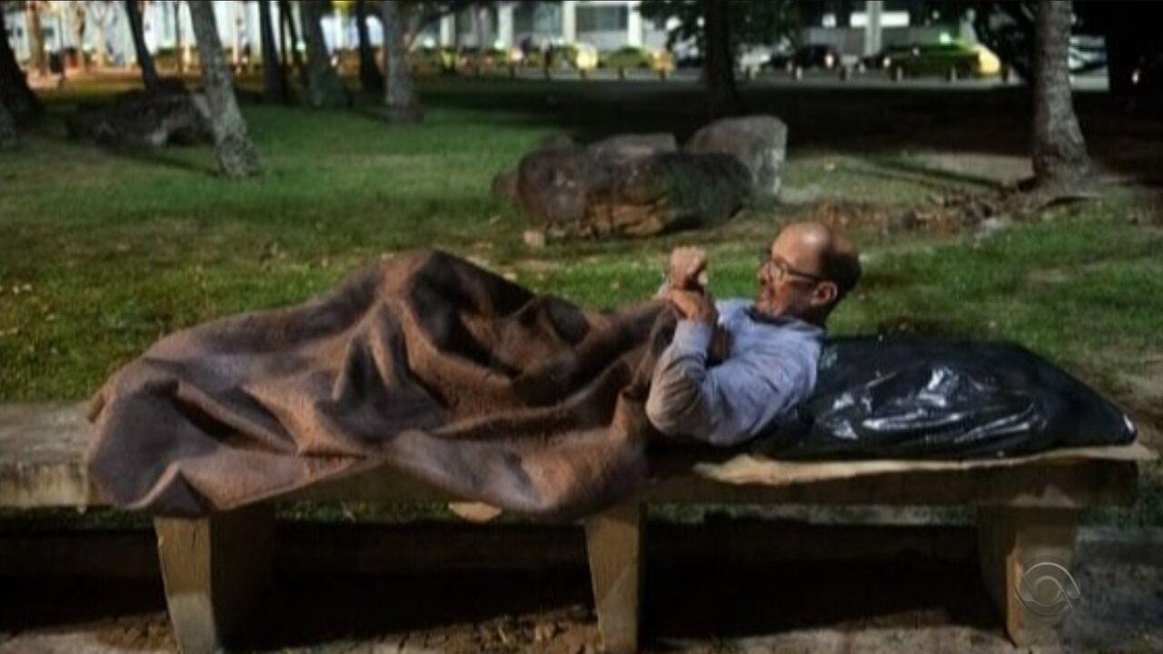 Sem encontrar emprego, catarinense vive nas ruas do Rio de Janeiro