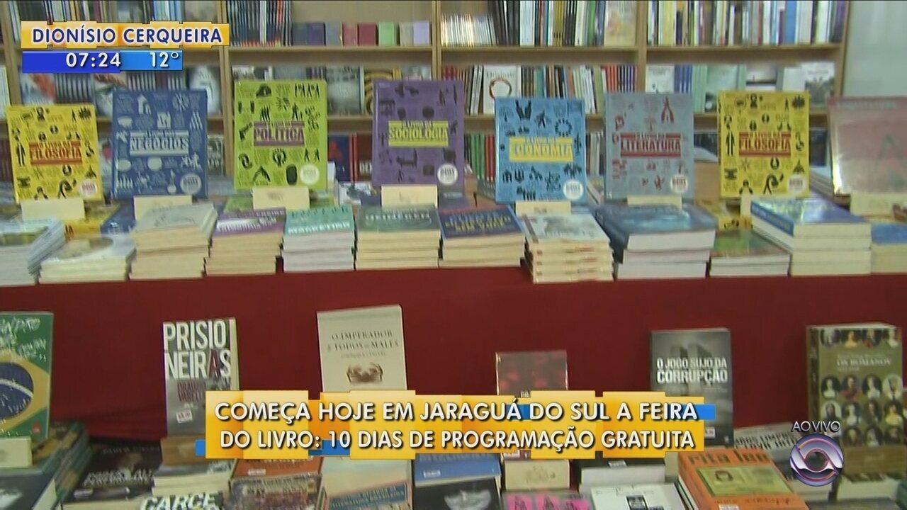Feira do Livro de Jaraguá do Sul tem 10 dias de programação gratuita