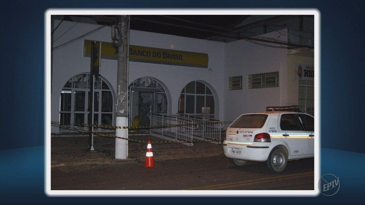 Agência do Banco do Brasil é alvo de criminosos em Minduri (MG)