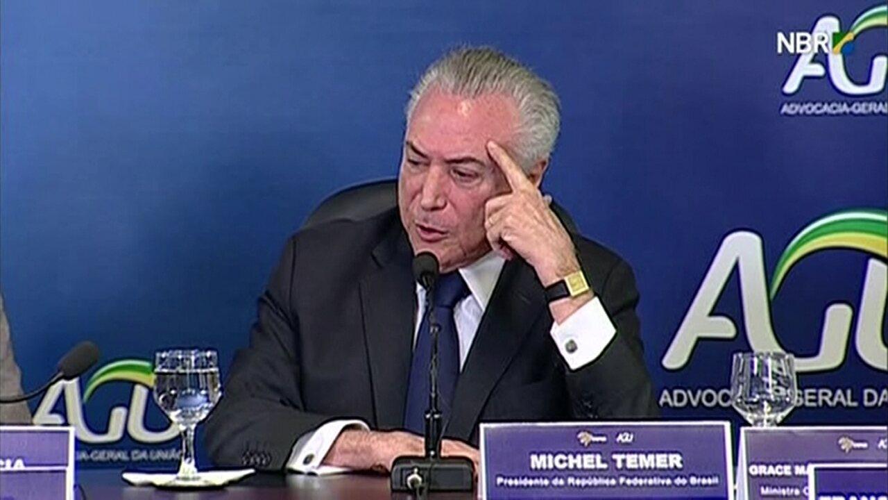 'Há uma ideia muito autoritária de autoridade', diz Temer