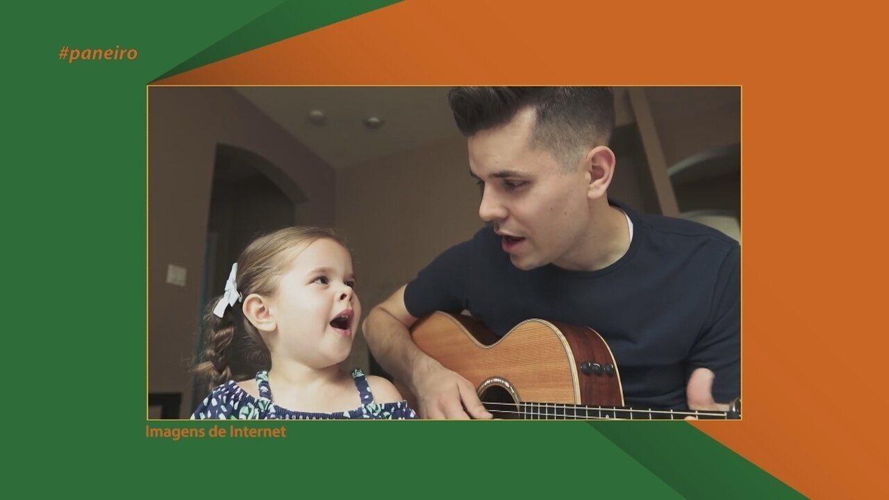 Parte 1: Veja exemplos de pais que fazem sucesso na internet cantando com os filhos