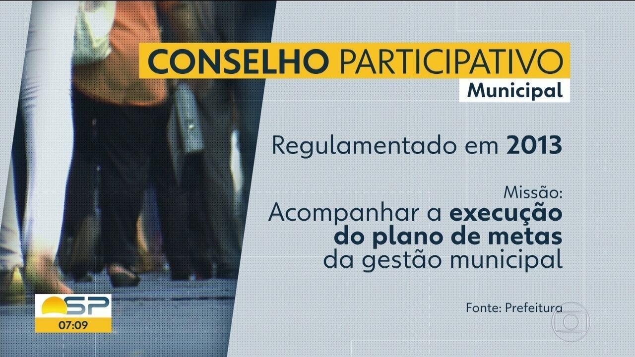 Doria altera decreto que regulamenta Conselho Participativo Municipal