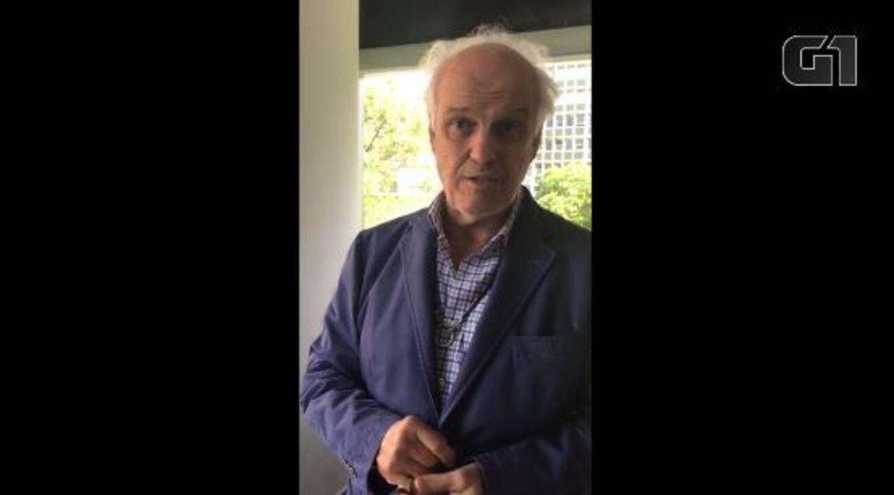 Executivo brasileiro mostra seu escritório em Caracas, na Venezuela