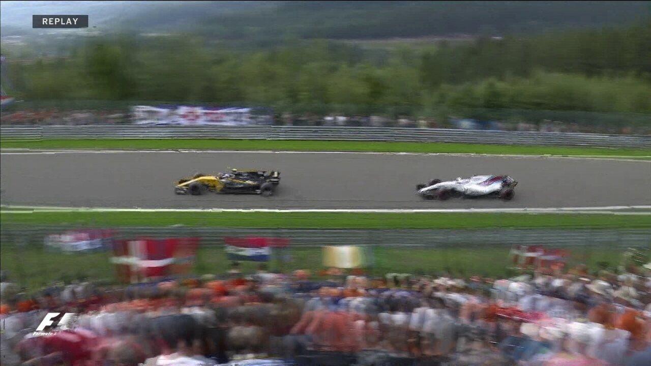 Palmer tem problemas no freio e acaba ultrapassado por Felipe Massa