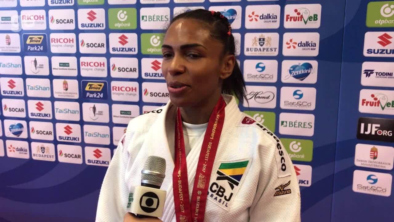 Bronze no Mundial de judô, Érika Miranda fala que pensou em parar de lutar após a Rio 2016