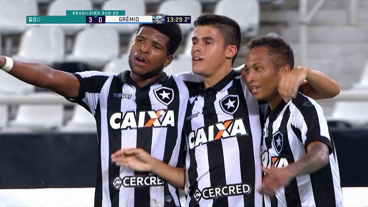 Os gols de Botafogo 3 x 1 Grêmio pelo Campeonato Brasileiro sub-20 54cb1b764debb