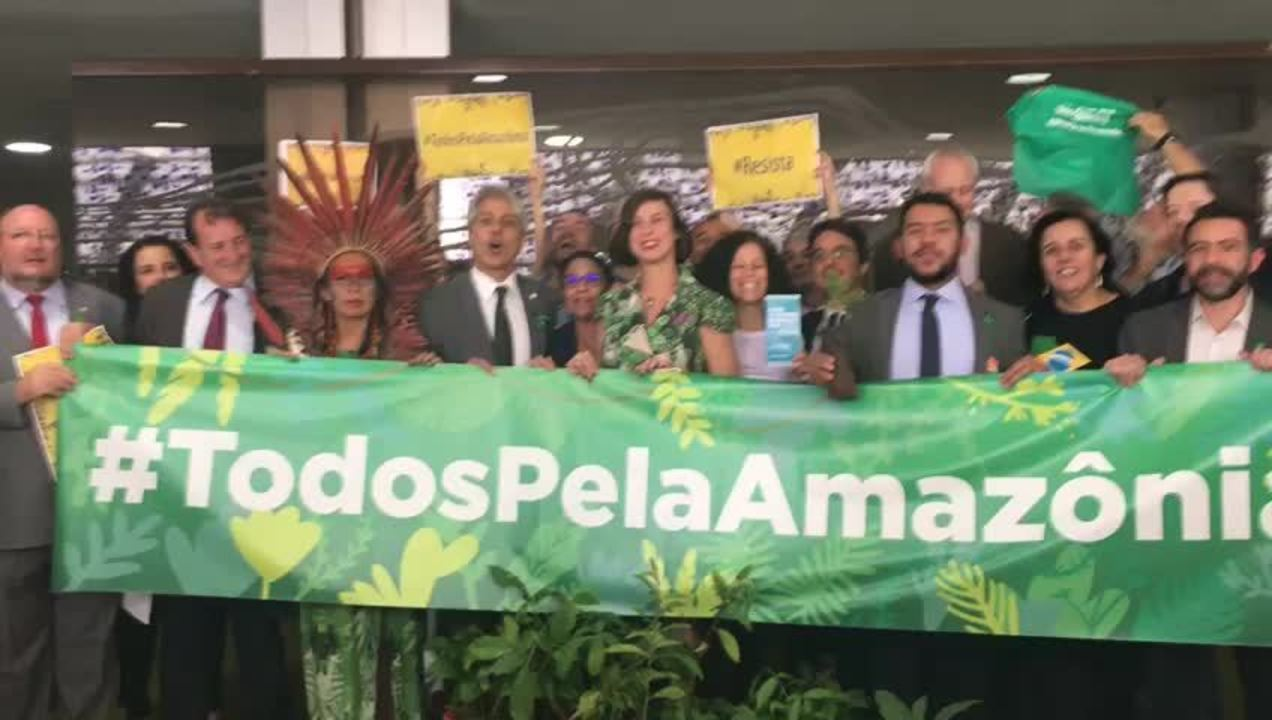 Protesto na Câmara fez um grito pela preservação da Amazônia
