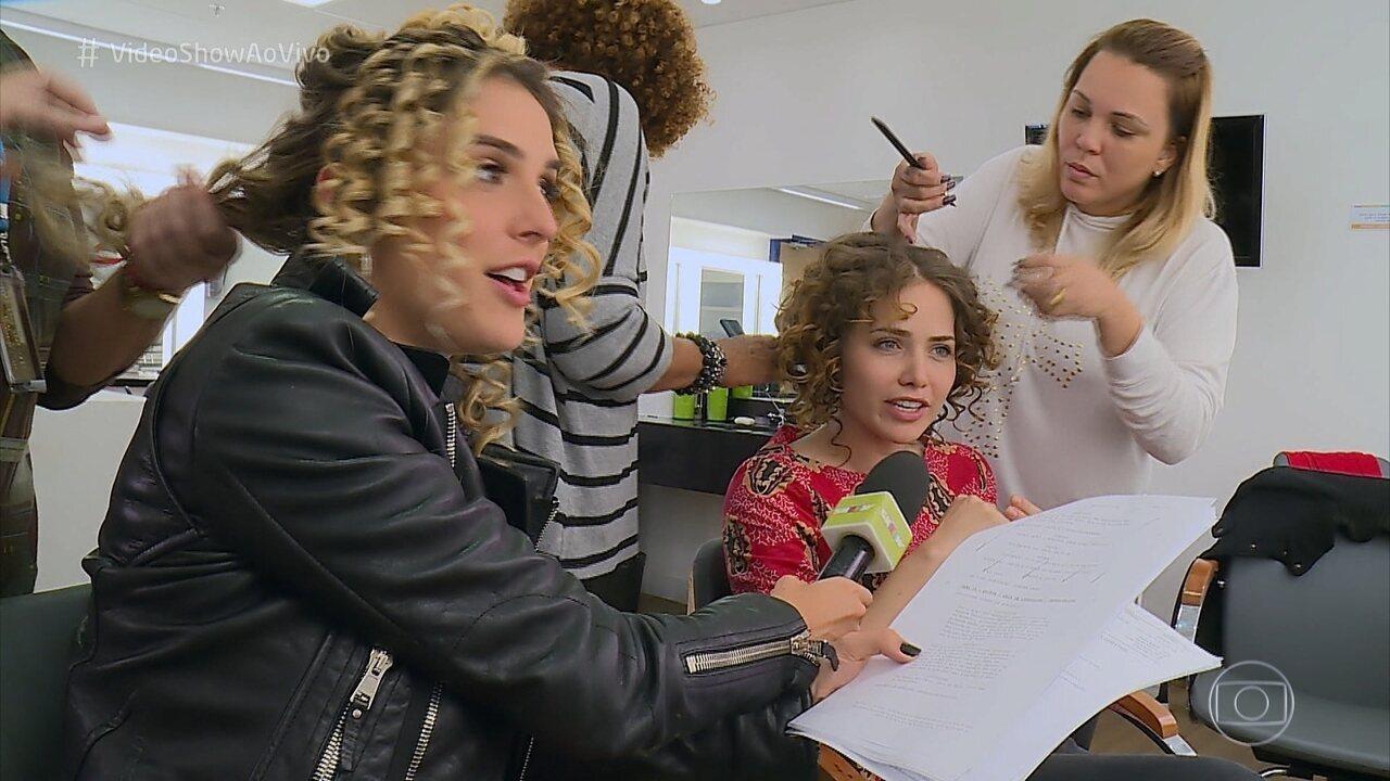 Letícia Colin leva uma hora para fazer o cabelo de Leopoldina