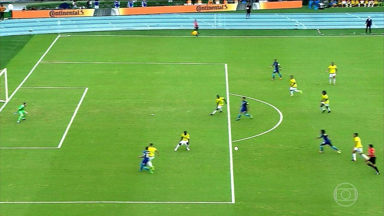 Os gols das eliminatórias sul-americanas nesta terça