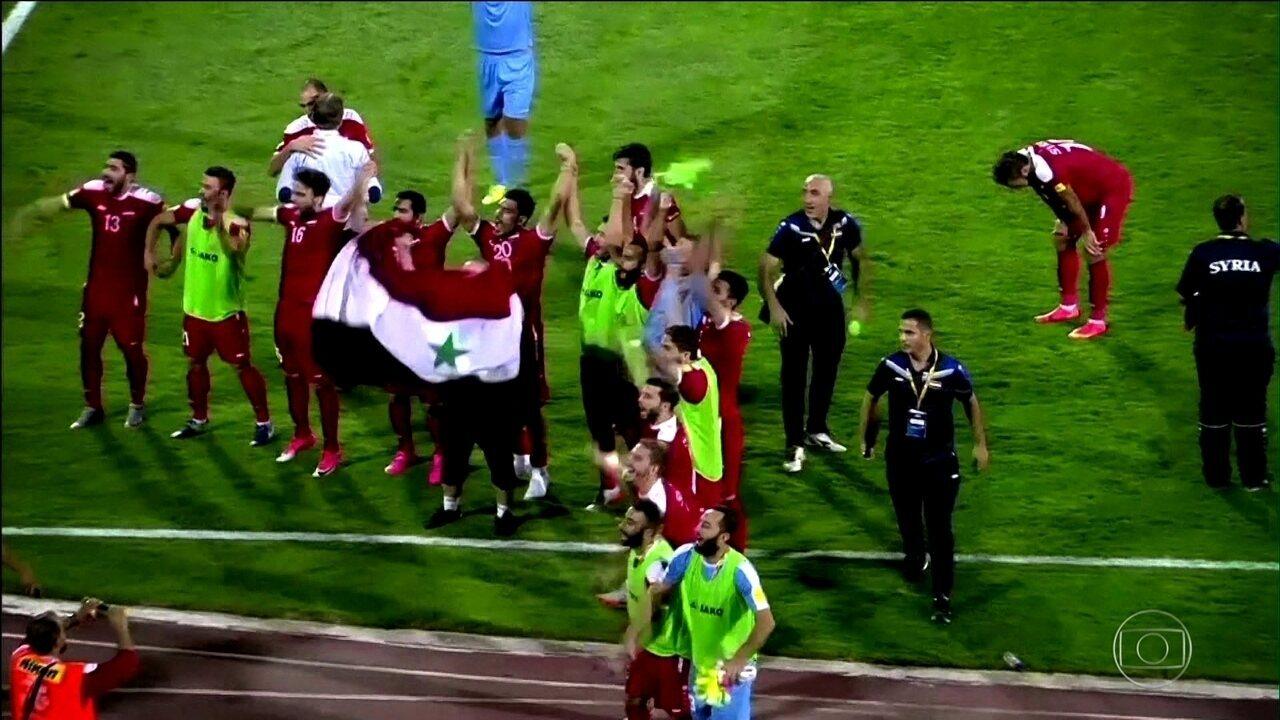Seleção da Síria se classifica para disputar a repescagem das eliminatórias da Copa