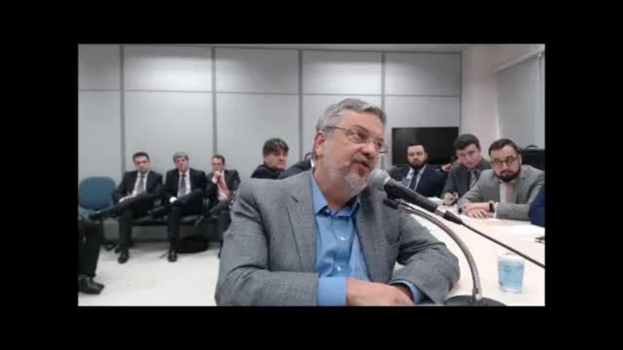 Depoimento de Antônio Palocci a juiz Sérgio Moro – vídeo 1