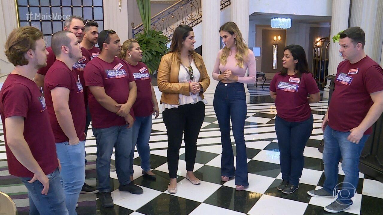 Participantes do concurso visitam os Estúdios Globo