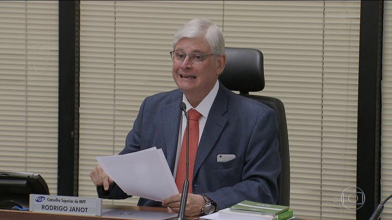 Janot denuncia ao STF integrantes da cúpula do PMDB no Senado