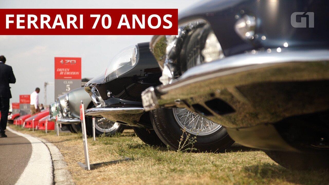 Ferrari comemora 70 anos com festa na Itália