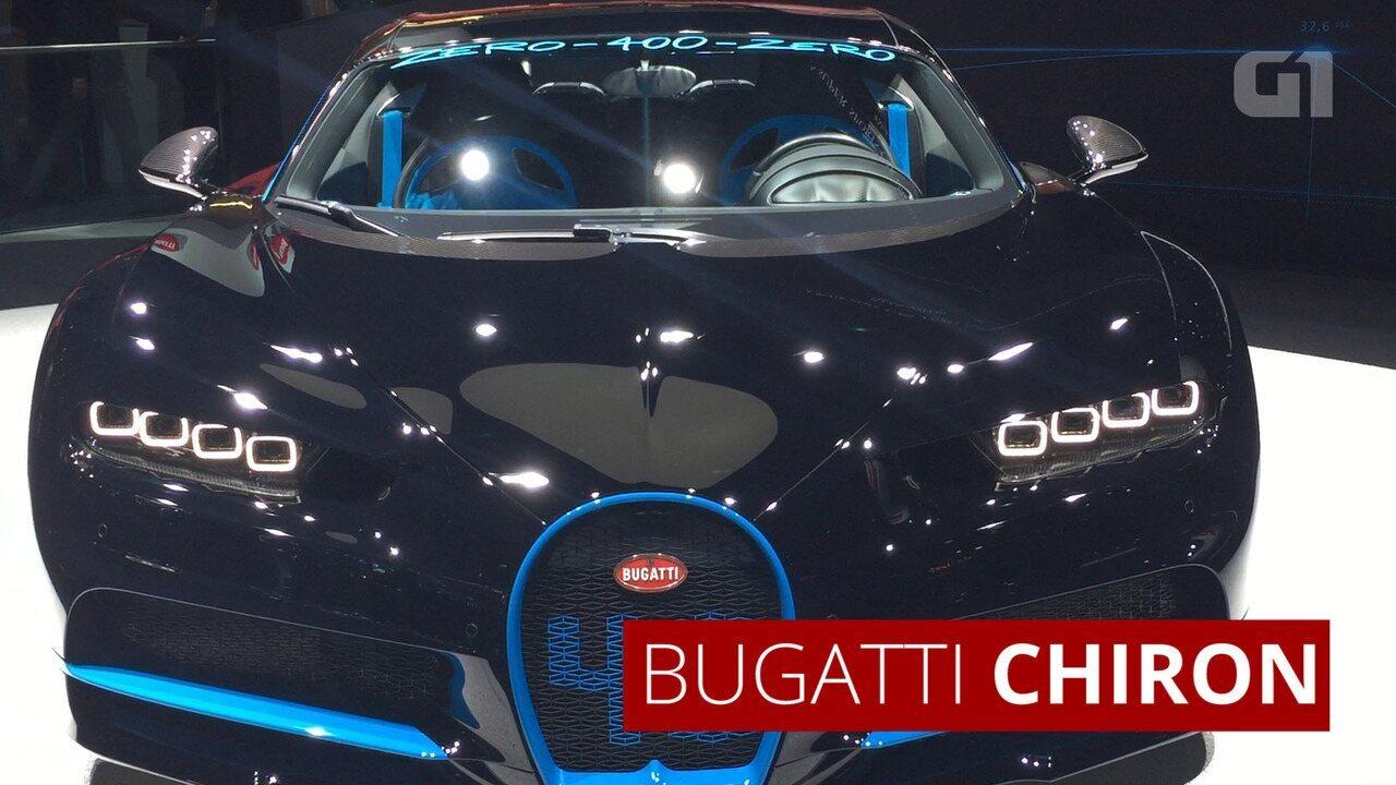 Bugatti Chiron vai de 0 a 400 km/h e para em 42 segundos; veja