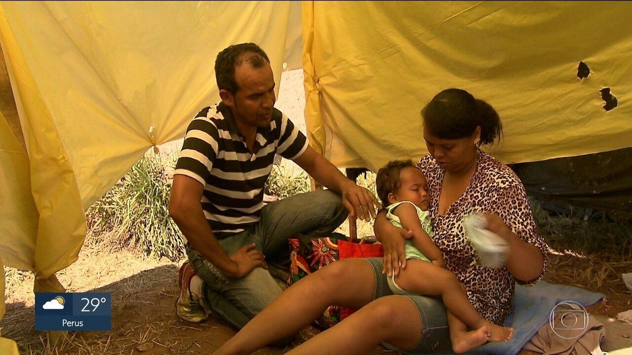 Desempregados lotam ocupação do MTST em terreno de São Bernardo do Campo