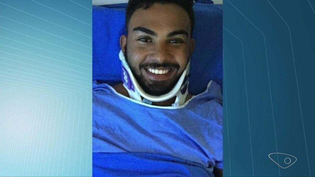 Atleta aguarda cirurgia 18 dias após bater moto em cavalo solto em rodovia do ES