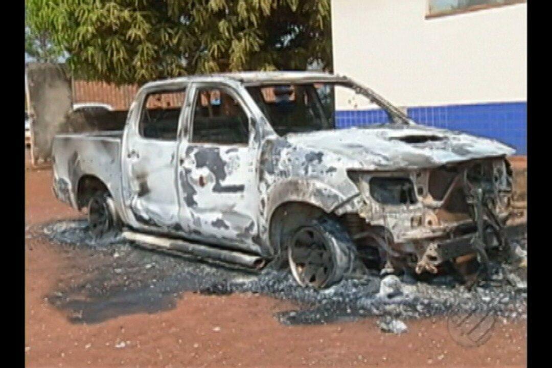 Viaturas da Polícia foram incendiadas em Floresta do Araguaia, no sudeste do Pará
