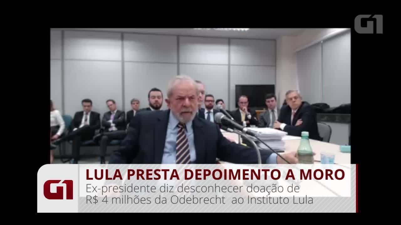Lula diz desconhecer doação de R$ 4 milhões da Odebrecht ao Instituto Lula
