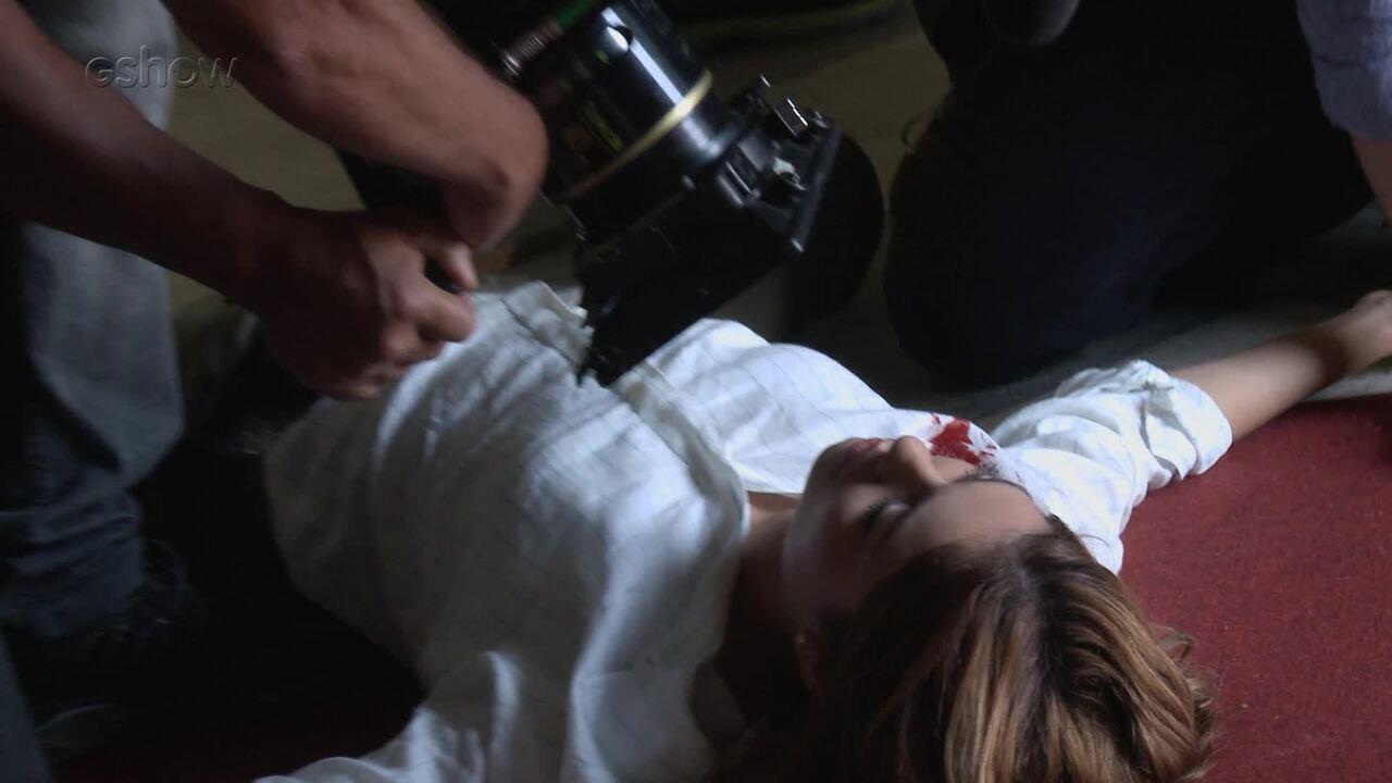 Vitor atira em Alice! Confira os bastidores da cena com efeitos especiais
