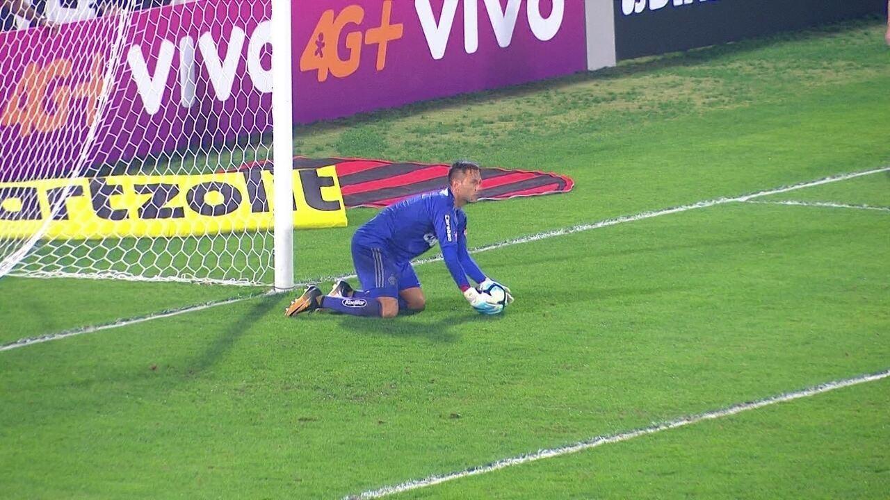 Confira lances em que Diego Alves foi exigido contra o Atlético-GO