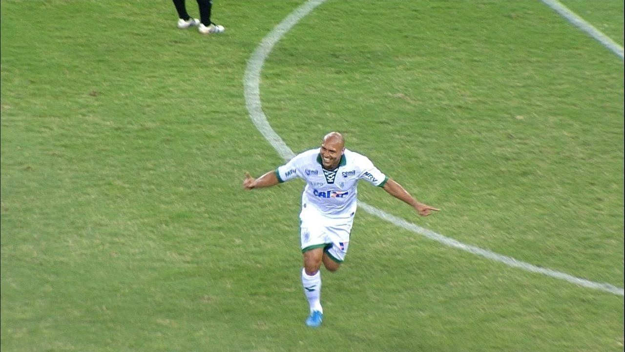 30 minutos: gol do América-MG! Edno empata o placar no Castelão